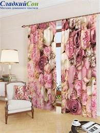 Комплект фотоштор ТомДом Розы цвет