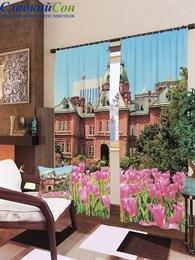 Комплект фотоштор ТомДом Тюльпаны в саду