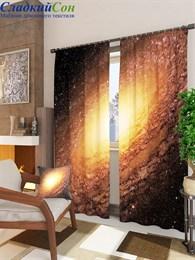 Комплект фотоштор ТомДом Золотая спиральная галактика