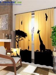 Комплект фотоштор ТомДом Животные сафари на закате