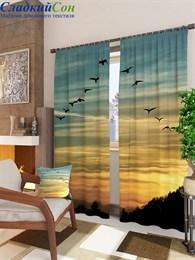 Комплект фотоштор ТомДом Летящая стая птиц