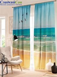 Комплект фотоштор ТомДом Пейзаж пляжа
