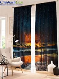 Комплект фотоштор ТомДом Звездное небо над озером