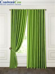 Комплект штор ТомДом Аклина зеленый
