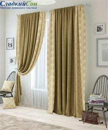 Комплект штор ТомДом Амрум коричневый