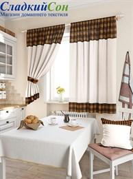 Комплект штор ТомДом Калифа коричневый