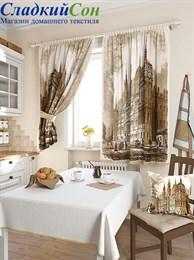 Комплект штор ТомДом Лозия коричневый