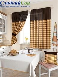 Комплект штор ТомДом Агапан коричневый