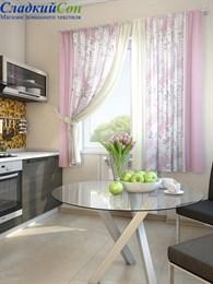 Комплект штор ТомДом Алиб розовый