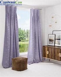 Комплект штор ТомДом Афелис сине-фиолетовый