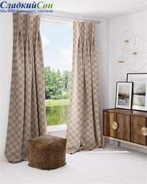 Комплект штор ТомДом Мартика бежево-коричневый