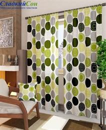 Комплект штор ТомДом Роули-К зеленый