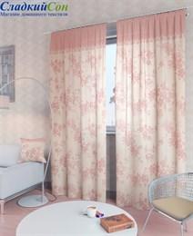 Комплект штор ТомДом Вивида-К розовый