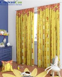 Комплект штор ТомДом Филан-К желтый