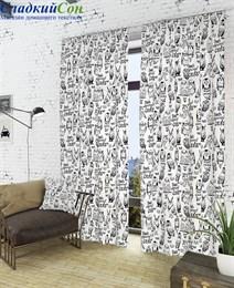 Комплект штор ТомДом Инис-К белый