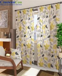 Комплект штор ТомДом Амои-К желтый