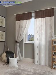 Комплект штор ТомДом Елист коричневый