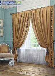Комплект штор ТомДом Бовье коричневый