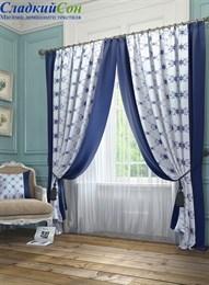 Комплект штор ТомДом Алия синий