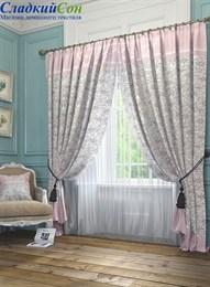 Комплект штор ТомДом Ромашки розовый