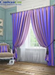 Комплект штор ТомДом Хайм фиолетовый
