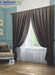 Комплект штор ТомДом Хайм коричневый