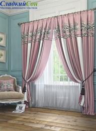 Комплект штор ТомДом Серсея розовый