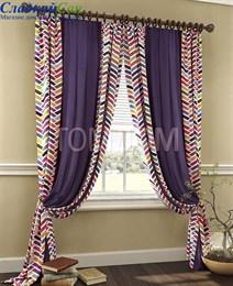 Комплект штор ТомДом Грейт фиолетовый