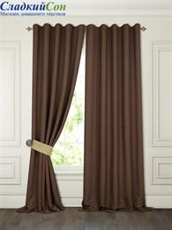 Комплект штор ТомДом Тиаго коричневый