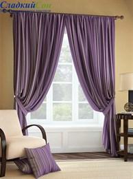 Комплект штор ТомДом Палис фиолетовый