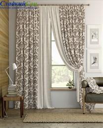 Комплект штор ТомДом Энтель бежево-коричневый