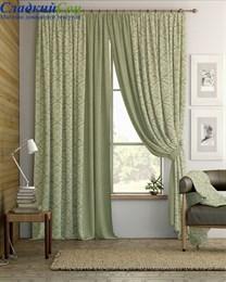 Комплект штор ТомДом Алески зеленый