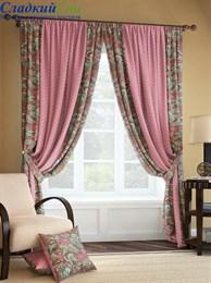 Комплект штор ТомДом Розиус розово-коричневый