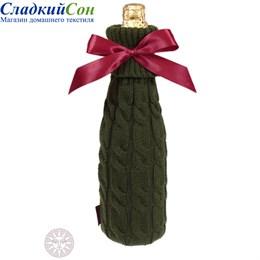 Декоративный чехол на  бутылку Luxberry Косы зеленый