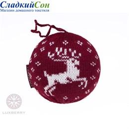 Декоративный шар Luxberry Олень бордовый