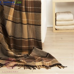 Плед Luxberry  Vandyck 130*170, цвет: бежевый/коричневый