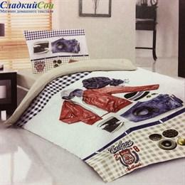 Комплект постельного белья Teen LB-01-1 College 1,5-спальный мультитон