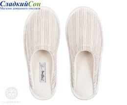 Тапочки домашние Luxberry STRIPES р-р: L цвет: белый/натуральный