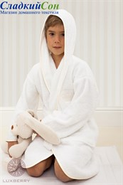 Халат Luxberry QUEEN, р-р: 11/12 лет, цвет: белый/бежевый