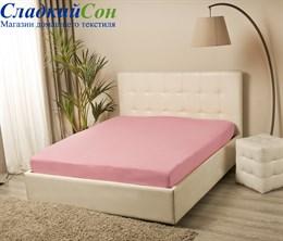 Простыня VIOLETT на резинке 140*200, цвет: розовый