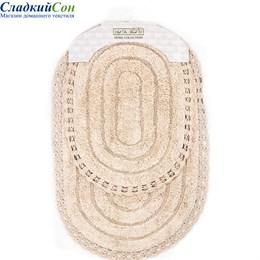 Набор ковриков для ванной Sofi de Marko YANA (персик) кружевной 60*100/50*70