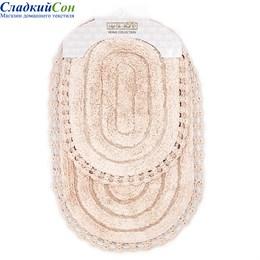 Набор ковриков для ванной Sofi de Marko YANA (пудра) кружевной 60*100/50*70