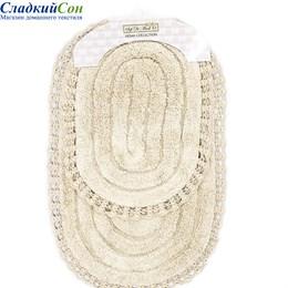 Набор ковриков для ванной Sofi de Marko YANA (стоун) кружевной 60*100/50*70