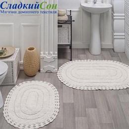 Набор ковриков для ванной Sofi de Marko YANA (крем) кружевной 60*100/50*70