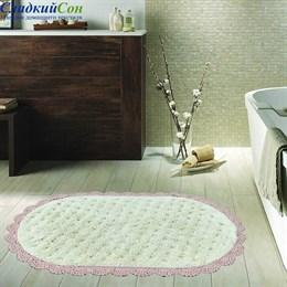 Набор ковриков для ванной Sofi de Marko VANDA (пудра) кружевной 60*100/50*70