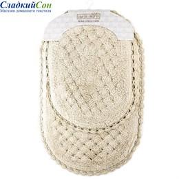 Набор ковриков для ванной Sofi de Marko AVRORA (беж) кружевной 60*100/50*70