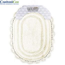 Набор ковриков для ванной Sofi de Marko PAMELLA (крем) кружевной 60*100/50*70