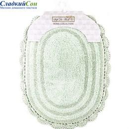Набор ковриков для ванной Sofi de Marko PAMELLA (ментол) кружевной 60*100/50*70