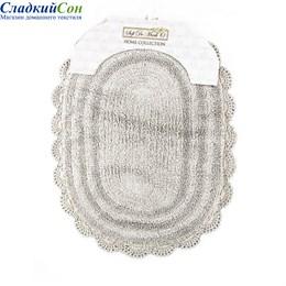 Набор ковриков для ванной Sofi de Marko PAMELLA (серый) кружевной 60*100/50*70