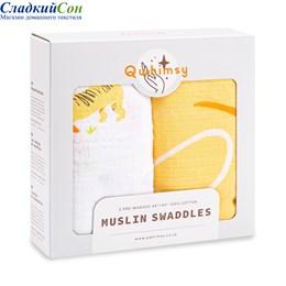 Набор муслиновых пеленок Qwhimsy Красная книга QSB013 2 шт.